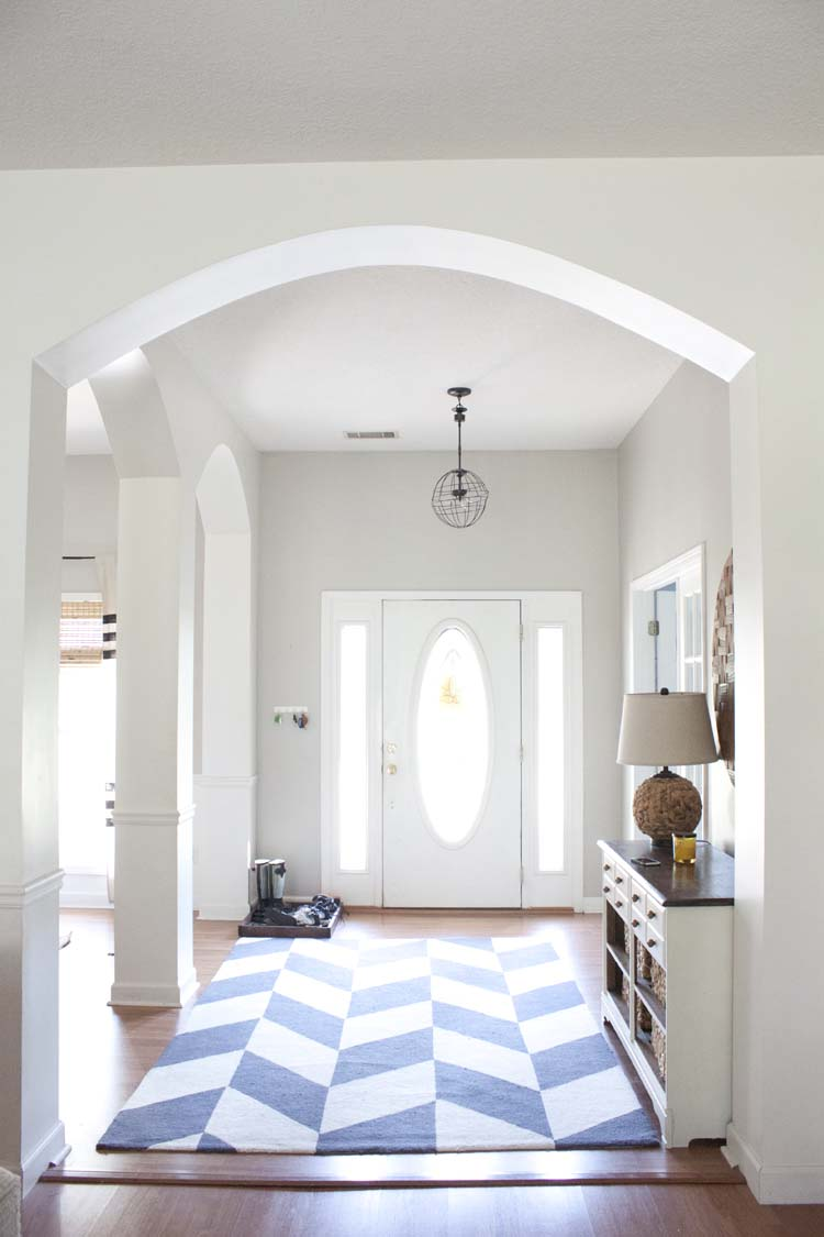 Small Foyer Makeovers : Modern farmhouse entryway makeover before after