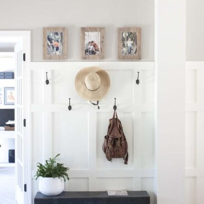My Modern Farmhouse Entryway Makeover | Before & After