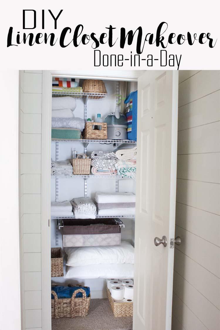 Attirant DIY Linen Closet Makeover