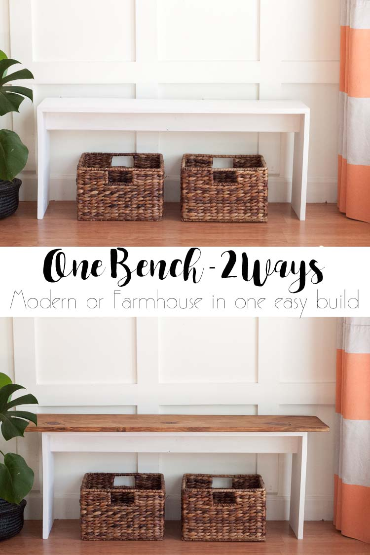 Easy DIY Bench - Modern or Farmhouse