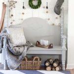 Farmhouse Christmas Entryway Styling Ideas