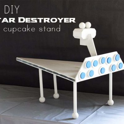DIY Star Destroyer Cupcake Stand | Star Wars