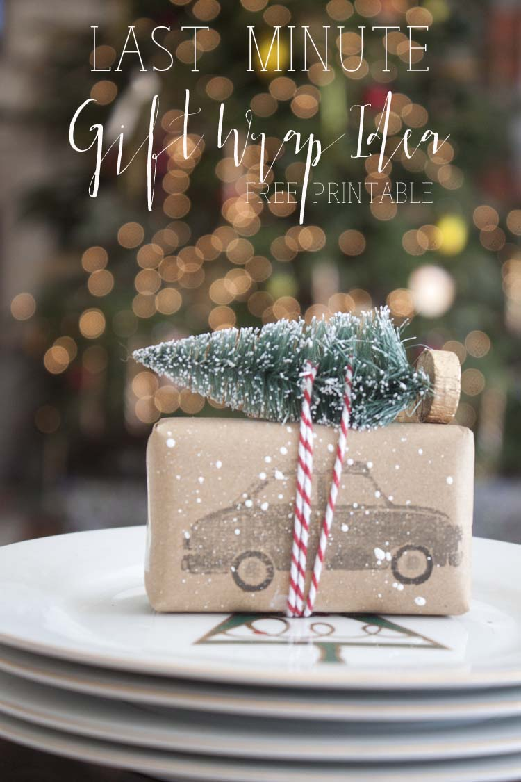 Last Minute DIY Gift Wrap Idea | FREE Printable