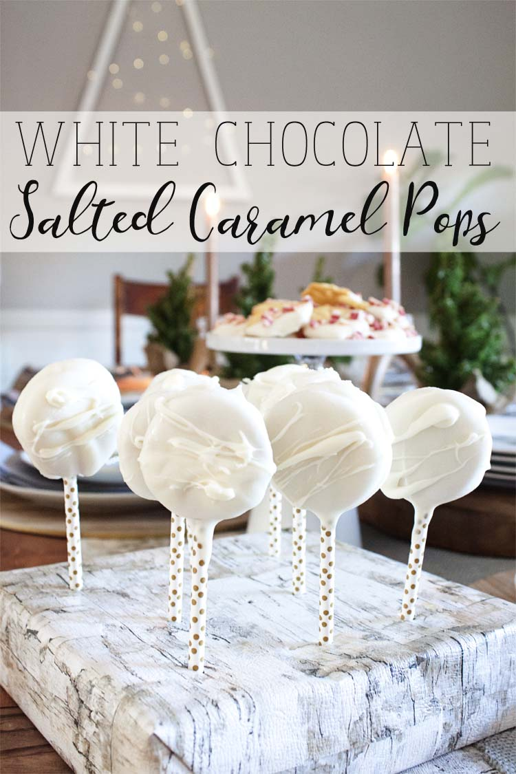 White Chocolate Salted Caramel Pops