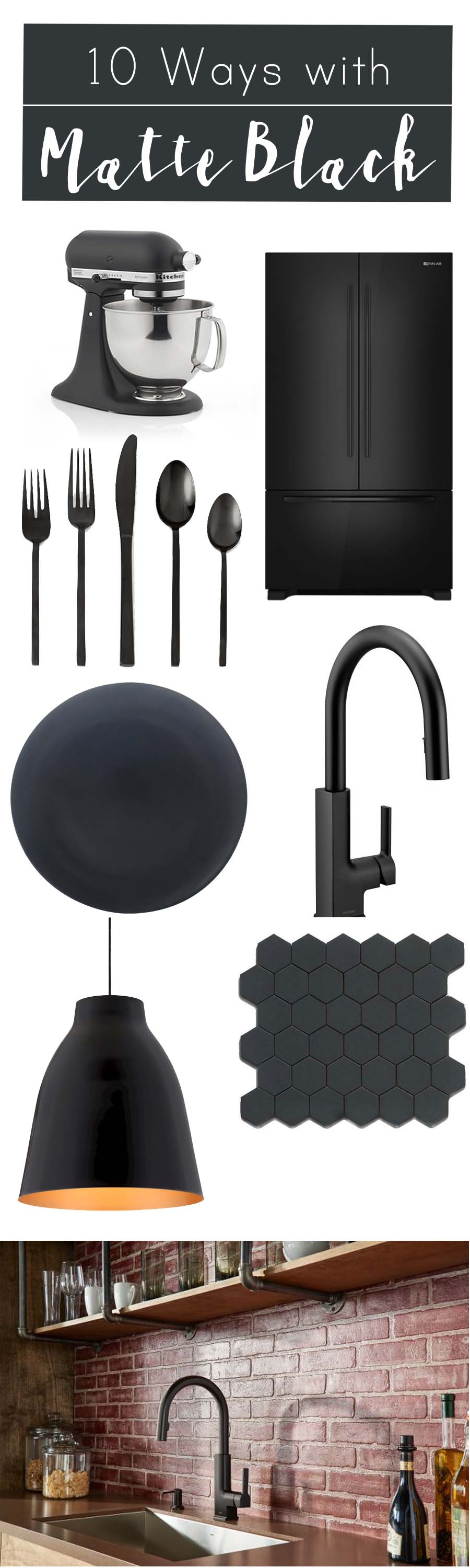 10 Ways with Matte Black