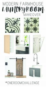 Modern Farmhouse Laundry Room Makeover   The Plan