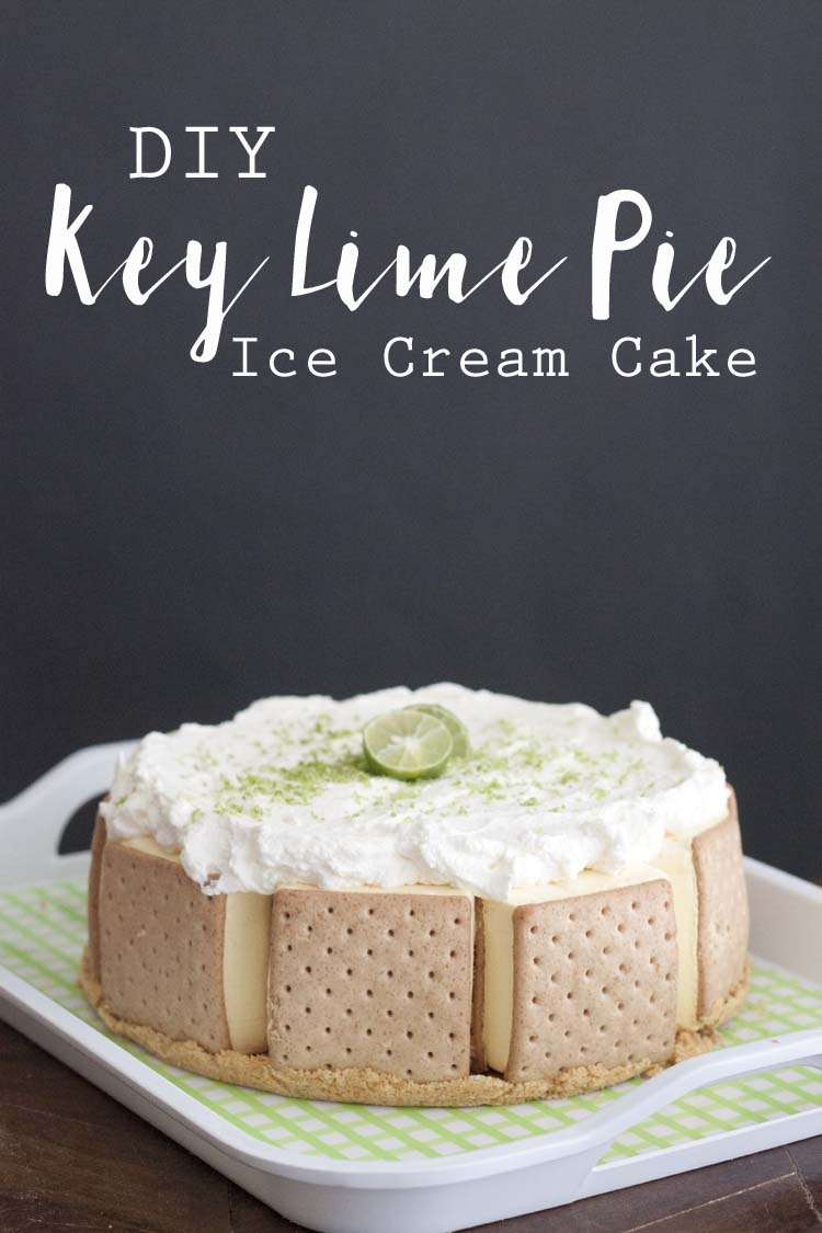 Key Lime Pie DIY Ice Cream Cake