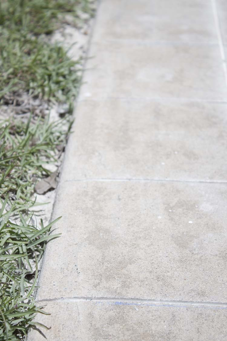 DIY Cement Tile Patio Makeover