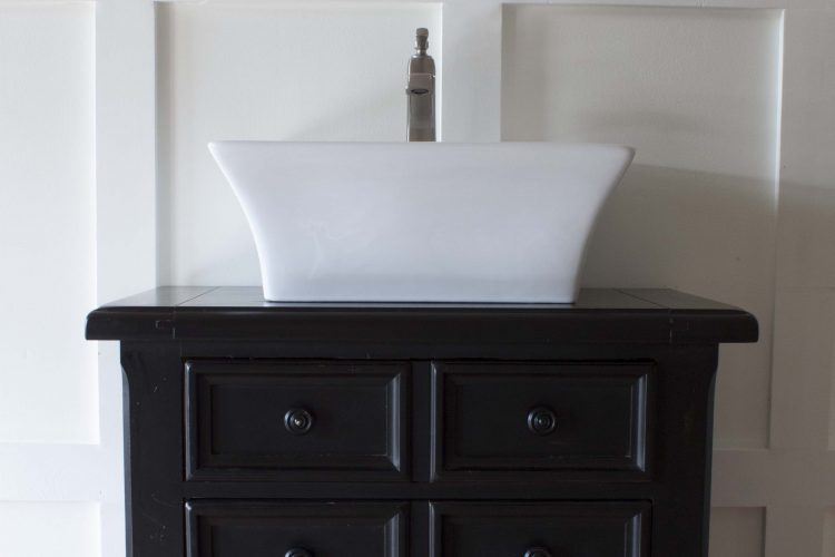 How to Turn a Nightstand into a Bathroom Vanity | Part 2