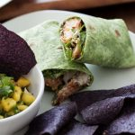 Sriracha Shrimp Wraps and Mango Salsa