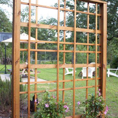 Modern DIY Garden Trellis