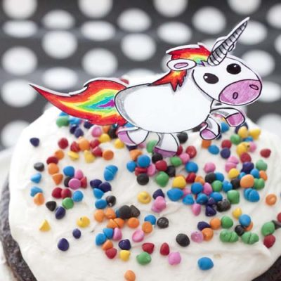 DIY Shrinky Dinks Cake Topper