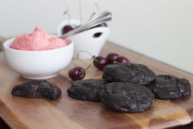 Double Dark Chocolate & Cherry Black Forest Cookies