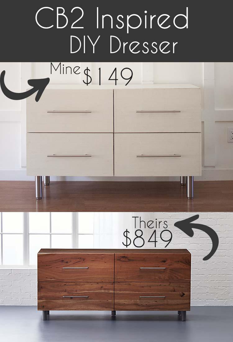 CB2 Inspired Modern DIY Dresser