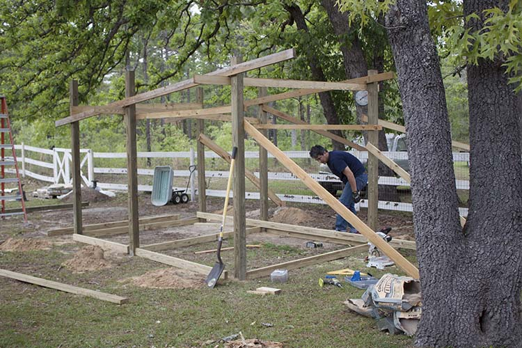 DIY Chicken Coop Framing