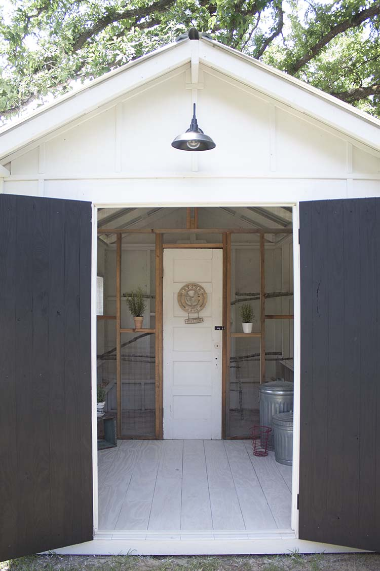 inside fancy farmhouse chicken coop