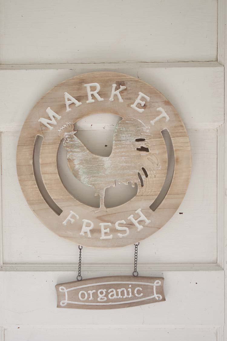 market fresh organic chicken sign