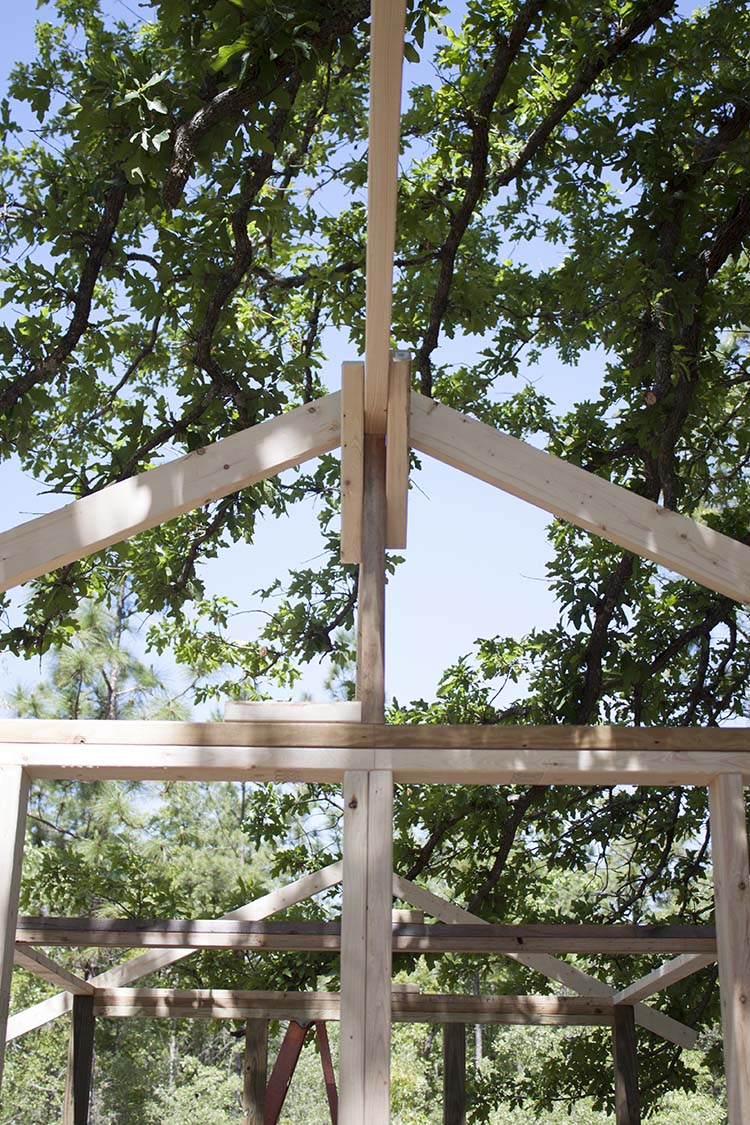 DIY Chicken Coop Framing Roof