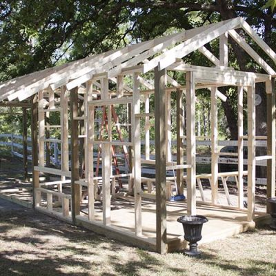 DIY Chicken Coop – Framing Out the Fancy Farmhouse Coop