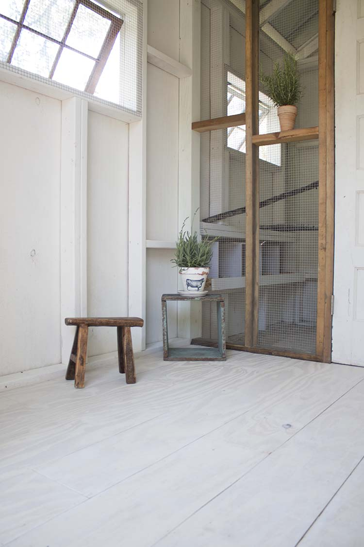 white wood plank floor