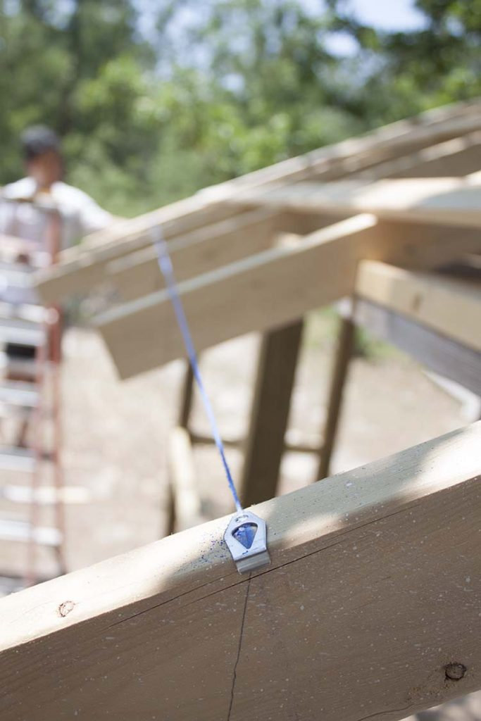 chalk line roof rafters