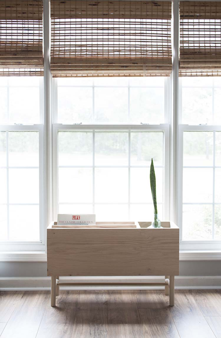 modern diy indoor plant stand magazine rack southern revivals. Black Bedroom Furniture Sets. Home Design Ideas