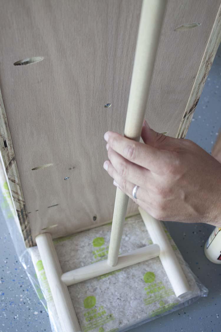 wooden planter legs