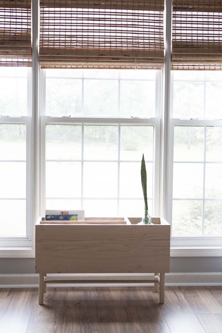 Modern Plant Stand Magazine Rack Window