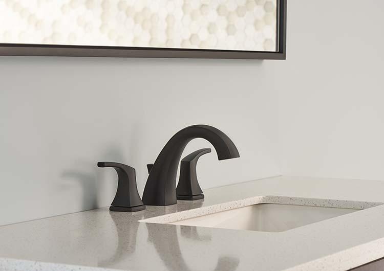 danze by GERBER Vaughn double handle faucet satin black
