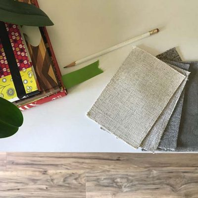 flooring and fabric samples
