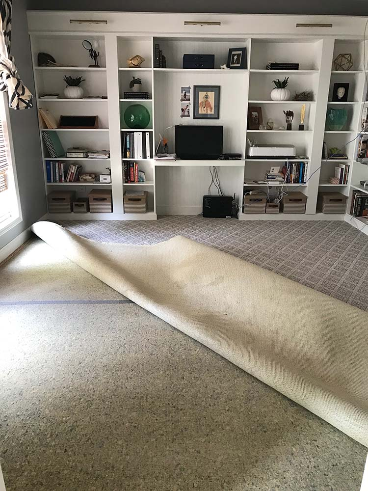 removing carpet home office