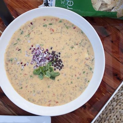 Cowboy Queso Dip | Backyard Makeover Sneak Peek