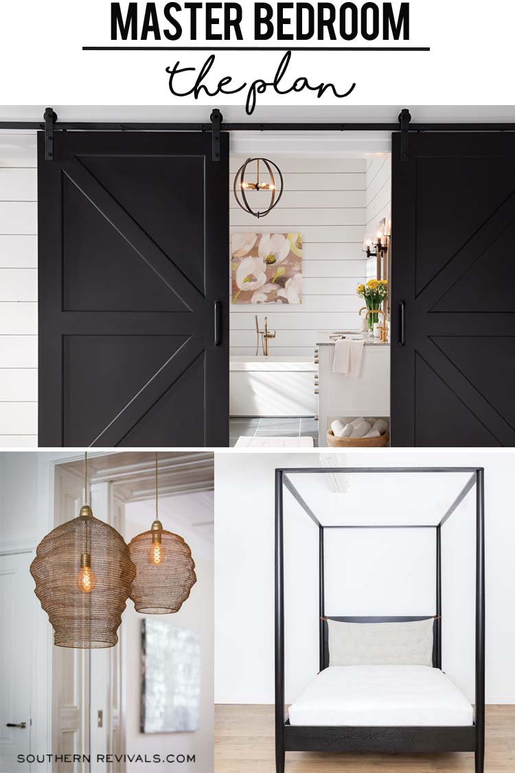 Black Barn Doors Canopy Bed Pendant Lights
