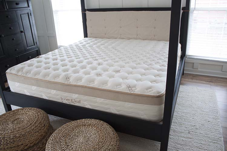 quilted mattress black bed