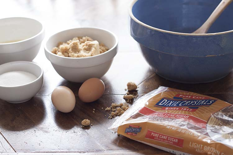 brown sugar eggs cookie ingredients