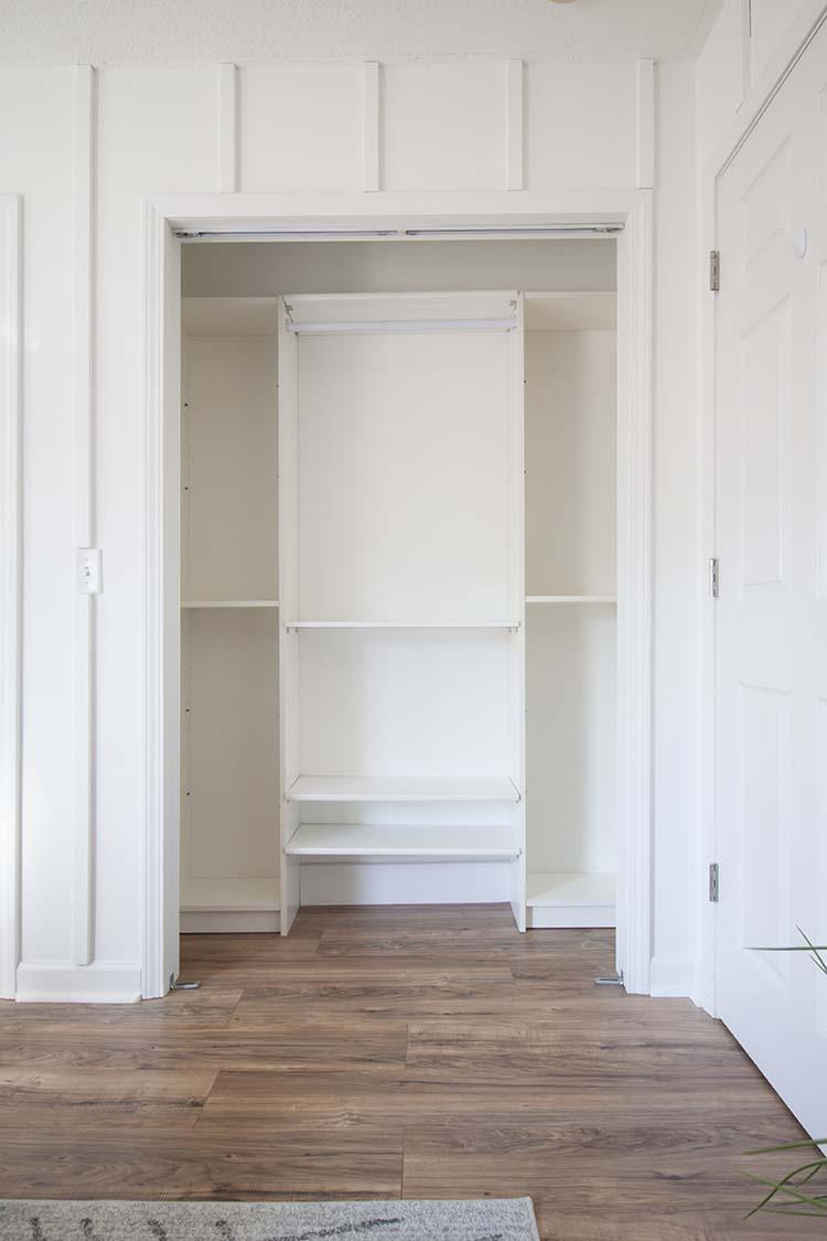 white closet system