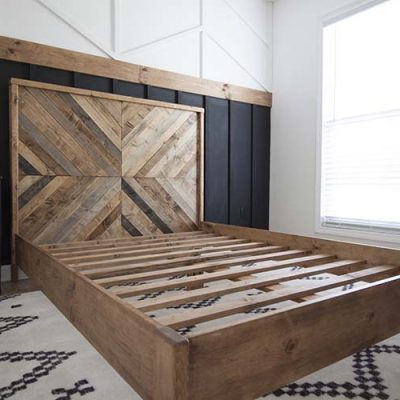 DIY Reclaimed Wood Bed – West Elm Inspired | ORC Week 3