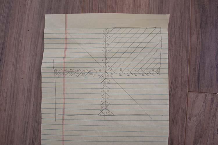 Herringbone wood pattern layout