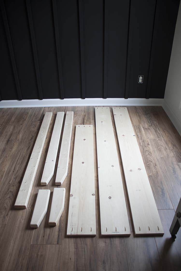 pine board bed pieces