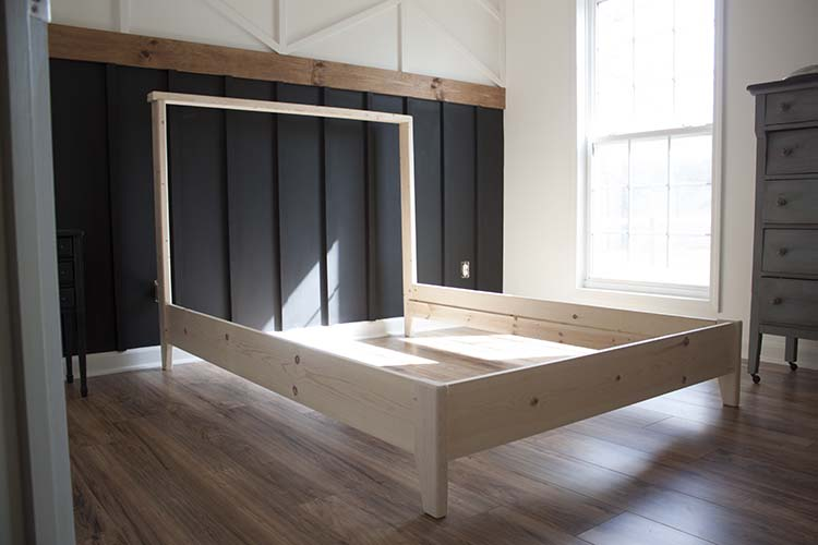 unfinished diy bed frame