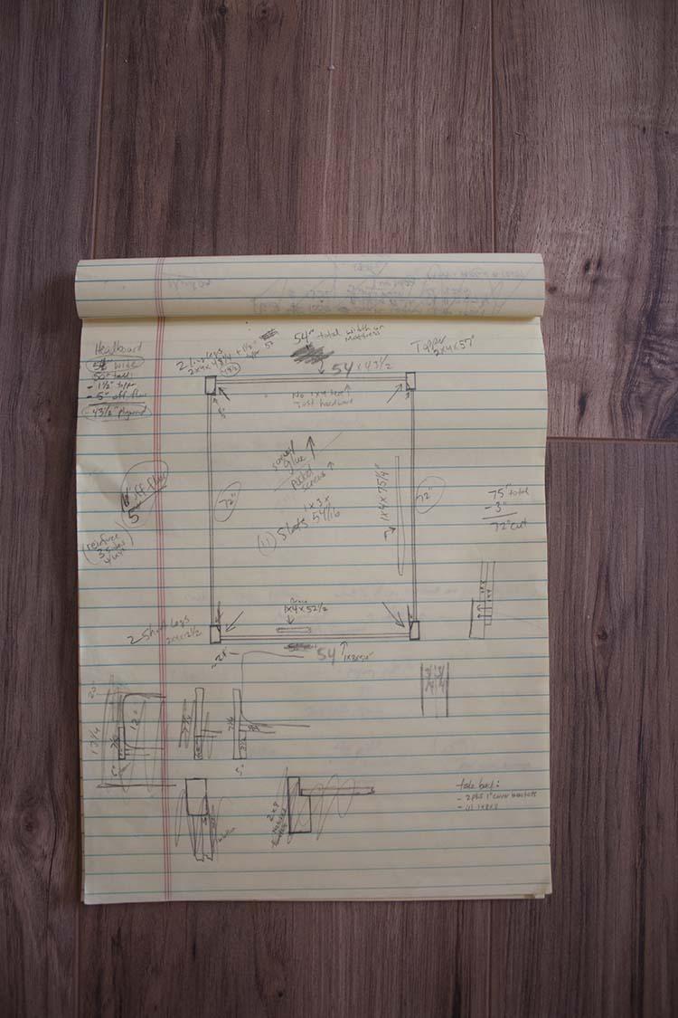 diy wood bed written plans