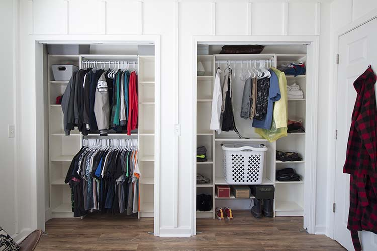 double walk in closet