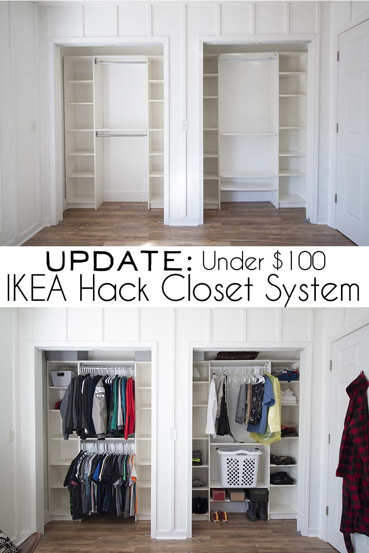 Under $100 IKEA Hack Closet System | UPDATE