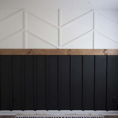 DIY Accent Wall – Herringbone Wainscoting | ORC Week #2