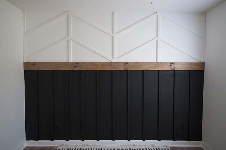 Diy Accent Wall Board And Batten Herrinbone Wainscotting Combo