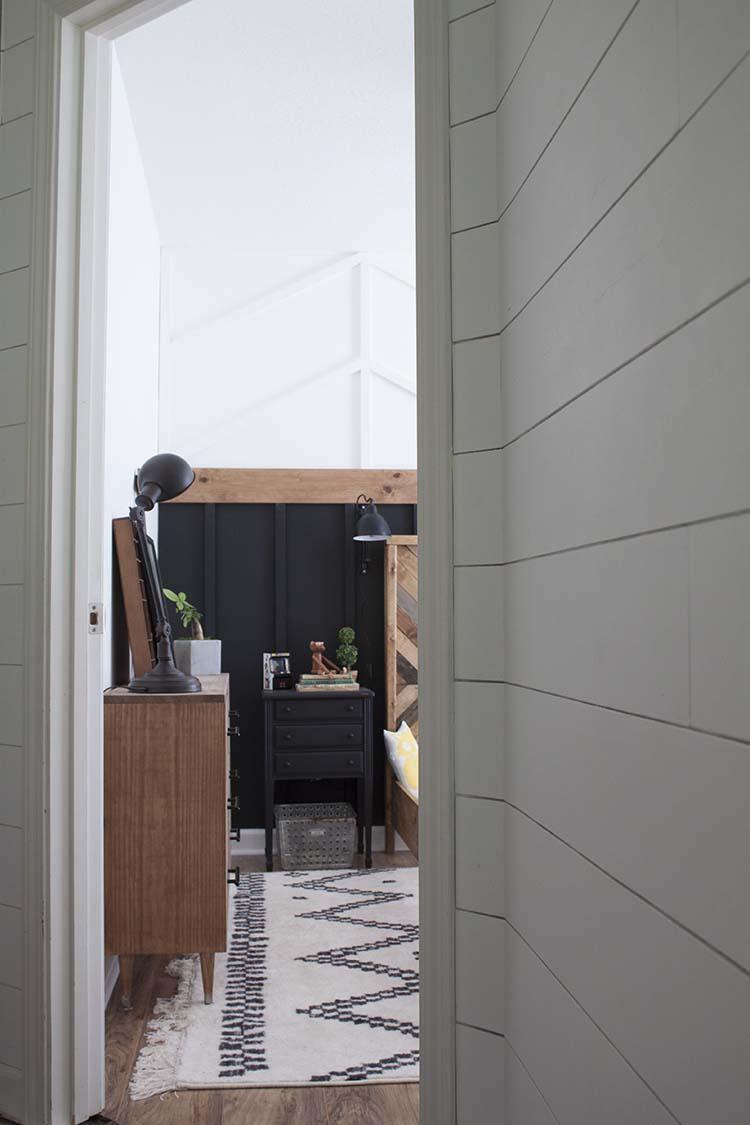 black and white room wood dresser