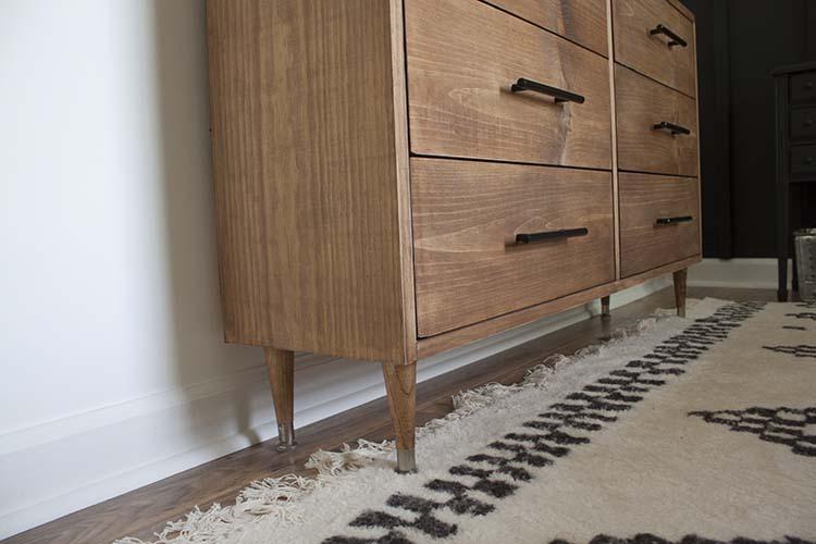 wood dresser legs