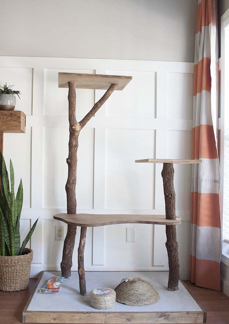 Diy Cat Tree Play Tower On The Cheap Southern Revivals