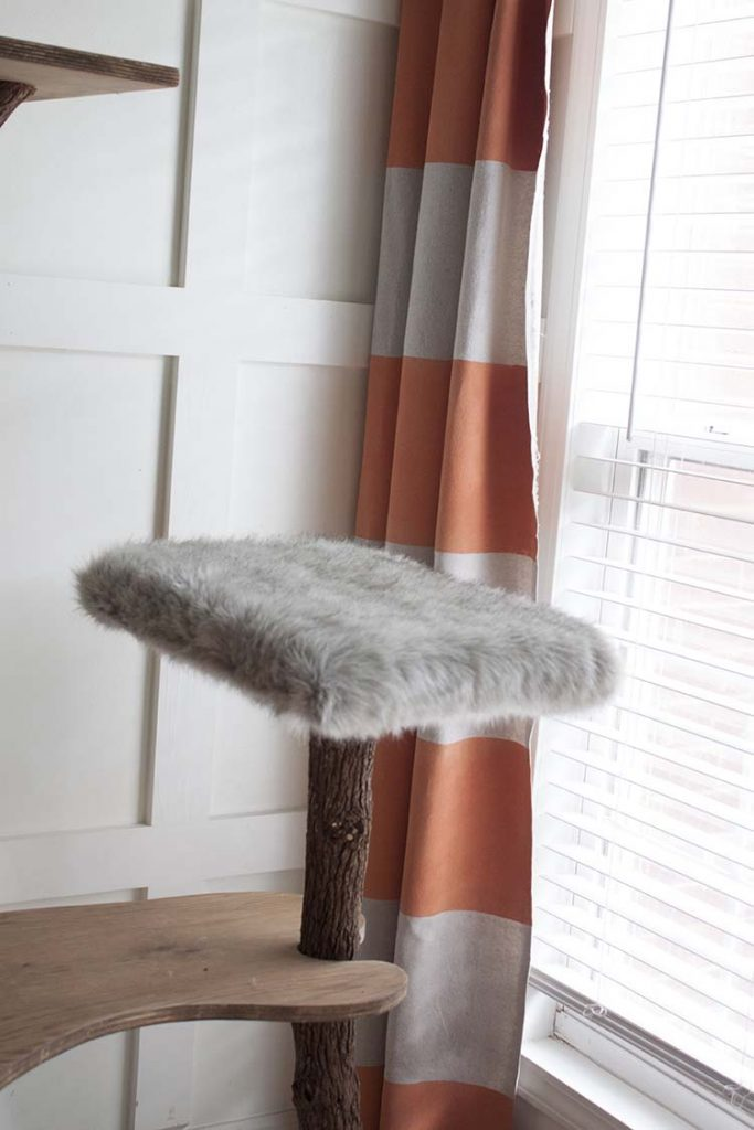faux fur platform diy cat tree