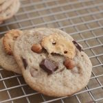 Chewy Chocolate Chunk Caramel Pretzel Cookies